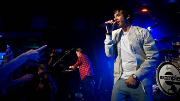 Elliot Gleave of 'Example' performs live during the the adidas 'All In' gig at Scala in London.