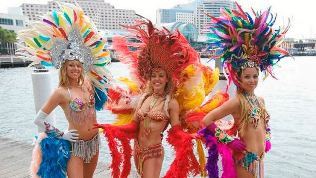 Rhythm queens … Brazilian Fantasy will perform on Saturday, 4.25pm.