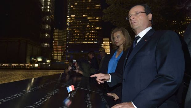 Rift ... French President Francois Hollande and Valerie Trierweiler earlier this year.
