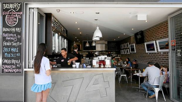 Good from the get-go ... X74 cafe in Coogee.