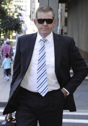 ''Incredibly distraught'' ... Peter Slipper arrives at court this week.