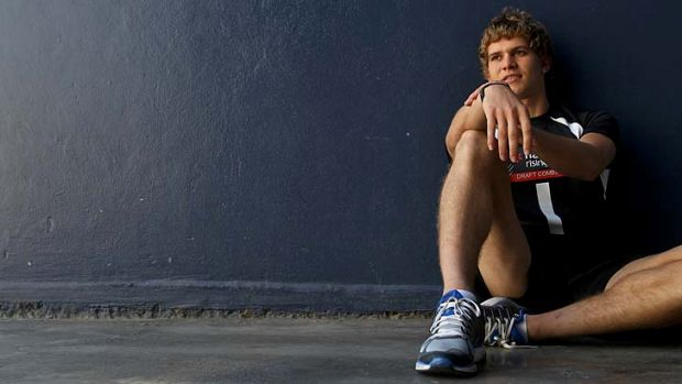 Jed Anderson at the AFL draft combine this week.