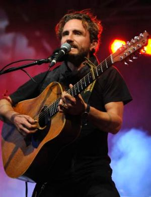 John Butler performs at Federation Square.