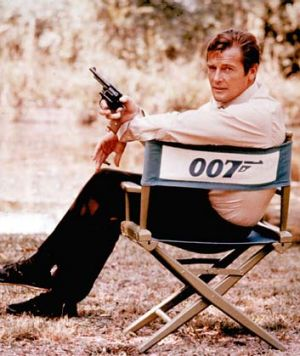 The spy we loved ... Roger Moore in 1972.