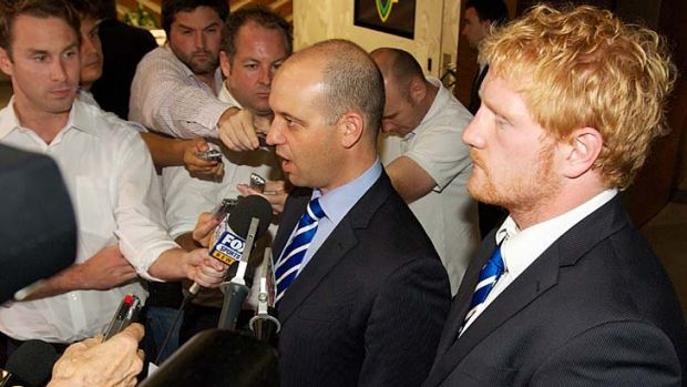 Todd Greenberg and James Graham after last week's hearing.