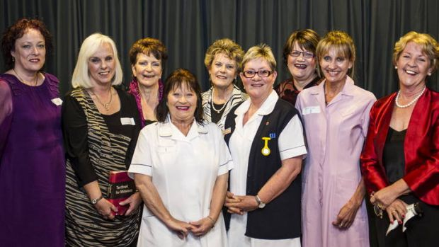 Some of the group of about 150 midwives and doctors who worked at the Woden Valley maternity unit between 1973 and 1991 ...