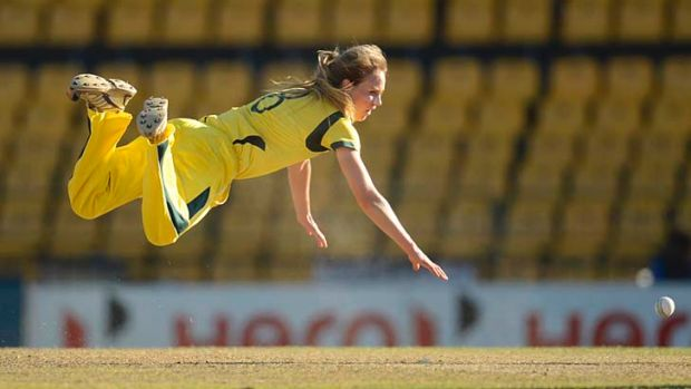 Field of dreams: Ellyse Perry, fielding during the semi-final against the West Indies, says the Southern Stars' finals ...