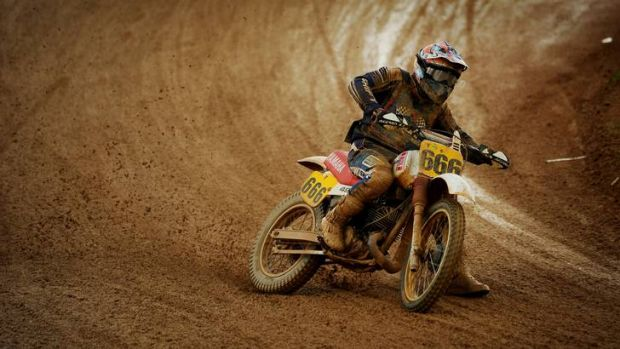 Ashley Wilesmith in action at the Australian Classic Dirt Track Championships at Pialligo.