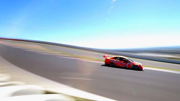 Out in front ... Holden's Jamie Whincup.