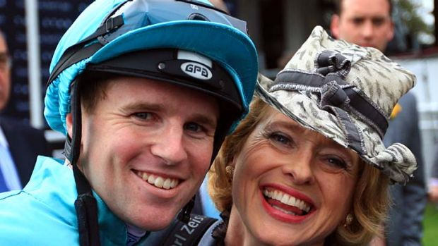 Group 1 double, no trouble ... Tom Berry and his boss, Gai Waterhouse.