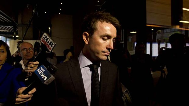 """Accused of """"grooming"""" Peter Slipper, not the other way around ... James Ashby."""