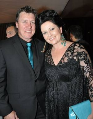 Canberra Raiders coach David Furner and his wife Kellie, who has been battling breast cancer.