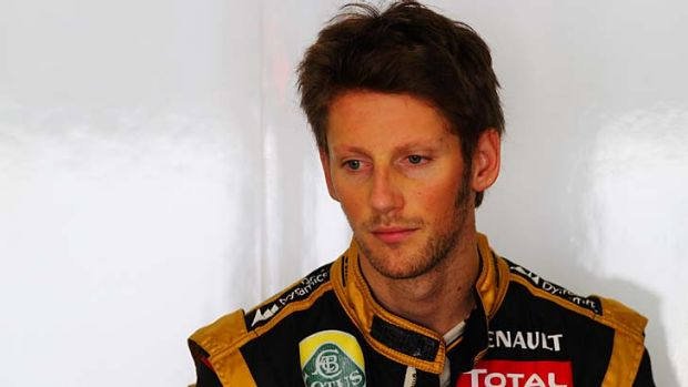 Caused another crash ...  Romain Grosjean.