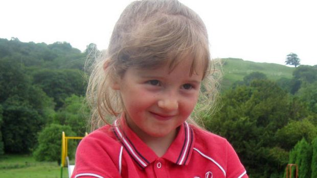 Town's agony ... five-year old April Jones, who was remembered in yesterday's service.