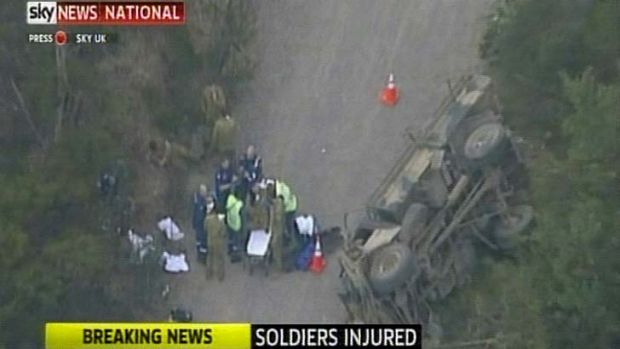 17 soldiers were injured when an open-top truck rolled at Sydney's Holsworthy Barracks.
