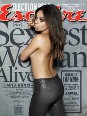 <i>Esquire</i> has named Mila Kunis as the 'sexiest woman alive'.
