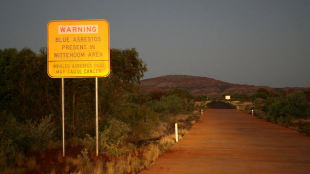 A sign indicating dangers ahead on the road from Auski Roadhouse to Wittenoom.
