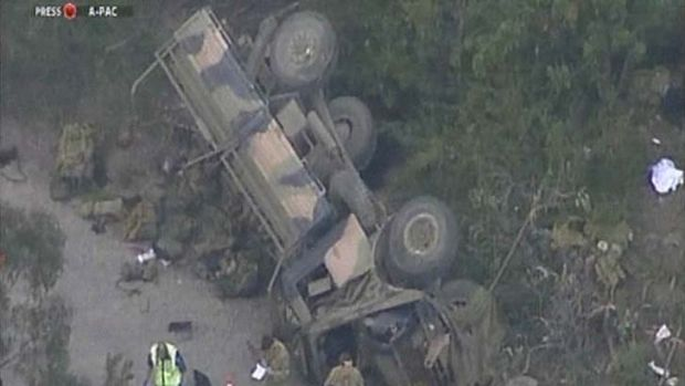 A soldier has died as a result of this crash at Holsworthy barracks on Monday.