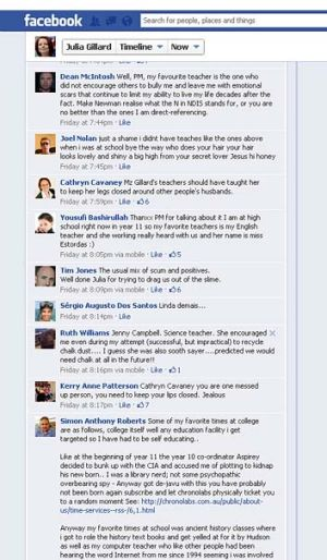 """Tiny minority"" ... negative comments on the Facebook exchange between the public and Prime Minister Julia Gillard."