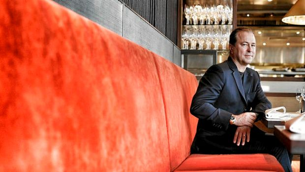 Chef Neil Perry at his Rockpool Bar & Grill restaurant in Melbourne.
