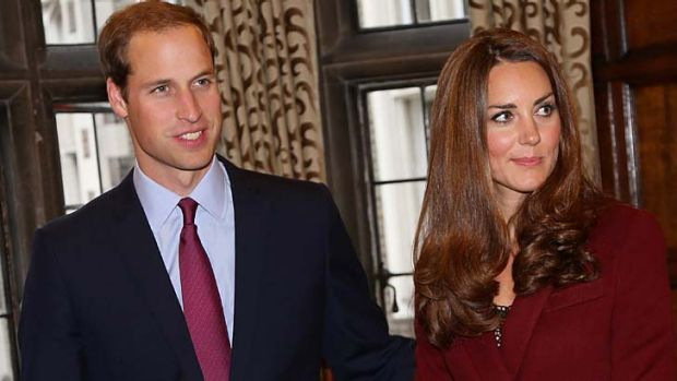 In the public eye ... the Duke and Duchess of Cambridge.