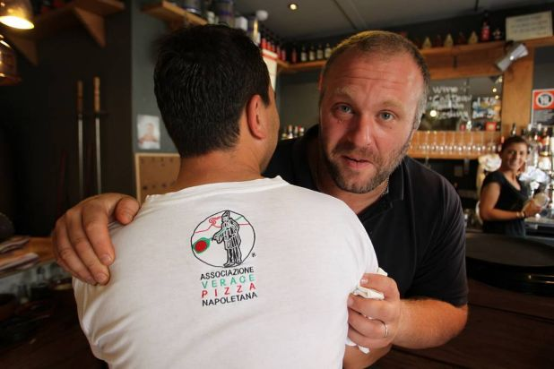 Gabriele Bonci with Luigi Esposito at Via Napoli, Lane Cove.