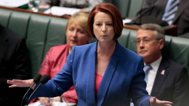Julia Gillard on the fashion attack.