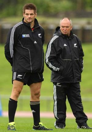 """""""Strong preference"""" ... Richie McCaw, left, favoured the appointment of Graham Henry, right, after the All Blacks 2007 ..."""