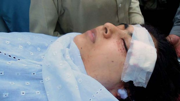 Shot in the head ... Malala Yousafzai, 14.