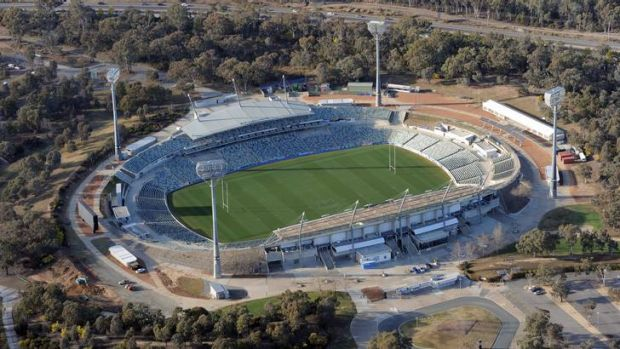 The Canberra Liberals say they will upgrade the existing Canberra Stadium (pictured), rather than building a new ...