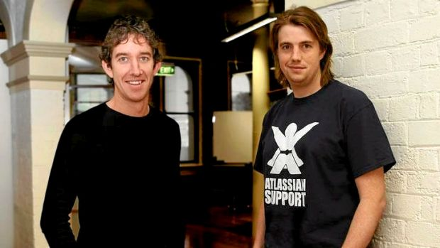 Atlassian. Afr. 091009. Pic by Michel O Sullivan. Pic shows portrait of  left  Scott Farquhar and  right  Mike Cannon ...
