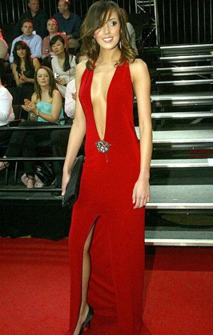 Rebecca Twigley (now married to Chris Judd)  at the 2004 Brownlow medal count at Melbourne Crown Casino wearing 'that' ...
