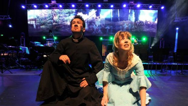 Simon Stone as the parson and Sarah Golding as his wife in Jeff Wayne's Musical Version of The War of the Worlds.