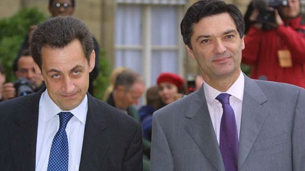 Third wheel ... Patrick Devedjian, right, the former minister in Nicolas Sarkozy's government, who was also in a ...