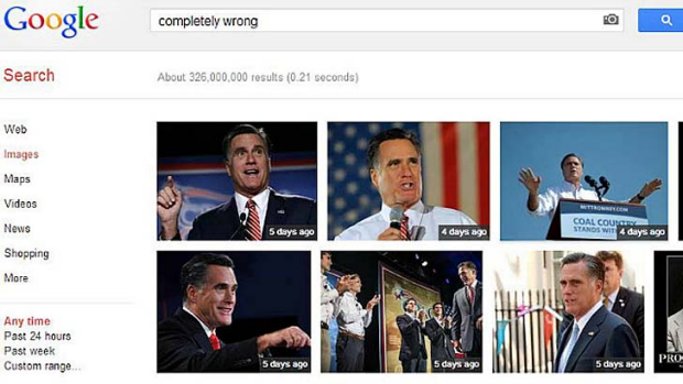 The quote that went around the world has come back to bite Mitt Romney on Google.