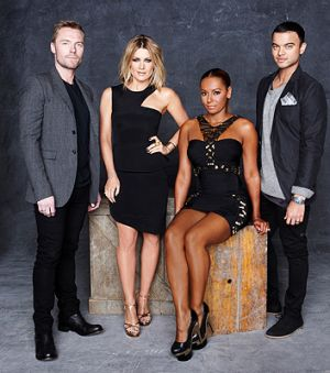 <i>The X Factor</i> judges (from left) Ronan Keating, Natalie Bassingthwaighte, Mel B and Guy Sebastian.