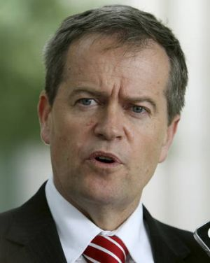 Financial Services Minister Bill Shorten.