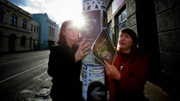 Sara Brocklesby, right, and Natalie Pestana have organised next week's march to protest against people who say women ...