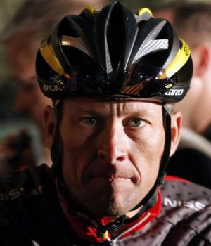 In the shadows: Lance Armstrong.