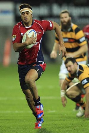 Revelation ... Waratahs winger Peter Betham playing for Tasman.