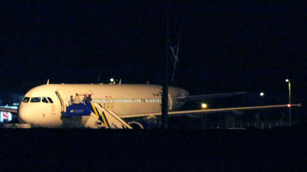 Suspicion of carrying weapons ... Turkish jets forced a Syrian Air Airbus A320 passenger plane to land at Ankara airport.