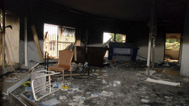 Failure to protect ... the gutted US consulate after the attack that killed four Americans, including the ambassador, ...