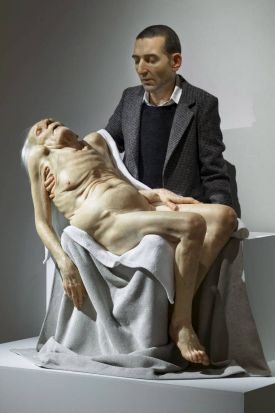 Sam Jinks sculptures for the gallery - Pieta.