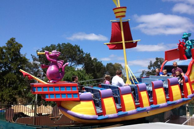 The Barnacle is a fun ride for the littler kids.