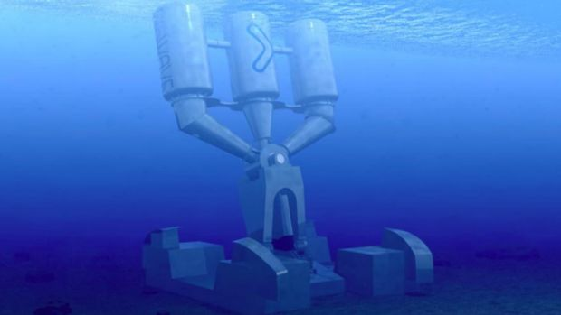 BioPower's planned wave energy plant.