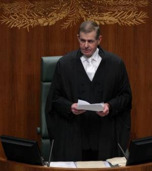 Former speaker Peter Slipper delivers his final speech to Parliament on Tuesday.