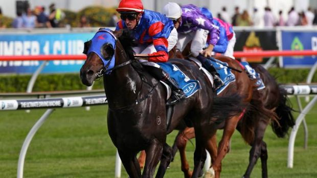 Pierro winning the Inglis Sires Produce Stakes at Randwick in April.