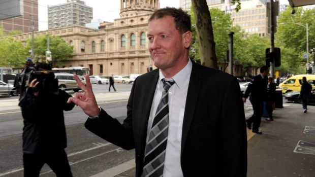 Ricky Nixon arrives at the Melbourne Magistrates Court at an earlier hearing.
