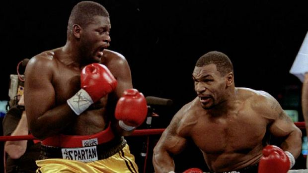 The hard man has softened ... Mike Tyson readies to hit Buster Mathis Jr.