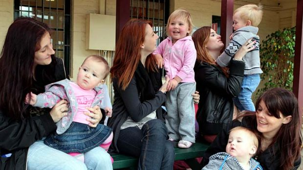 Pregnant pause … mothers with a new lease of life at the DALE school in Waratah, Newcastle.